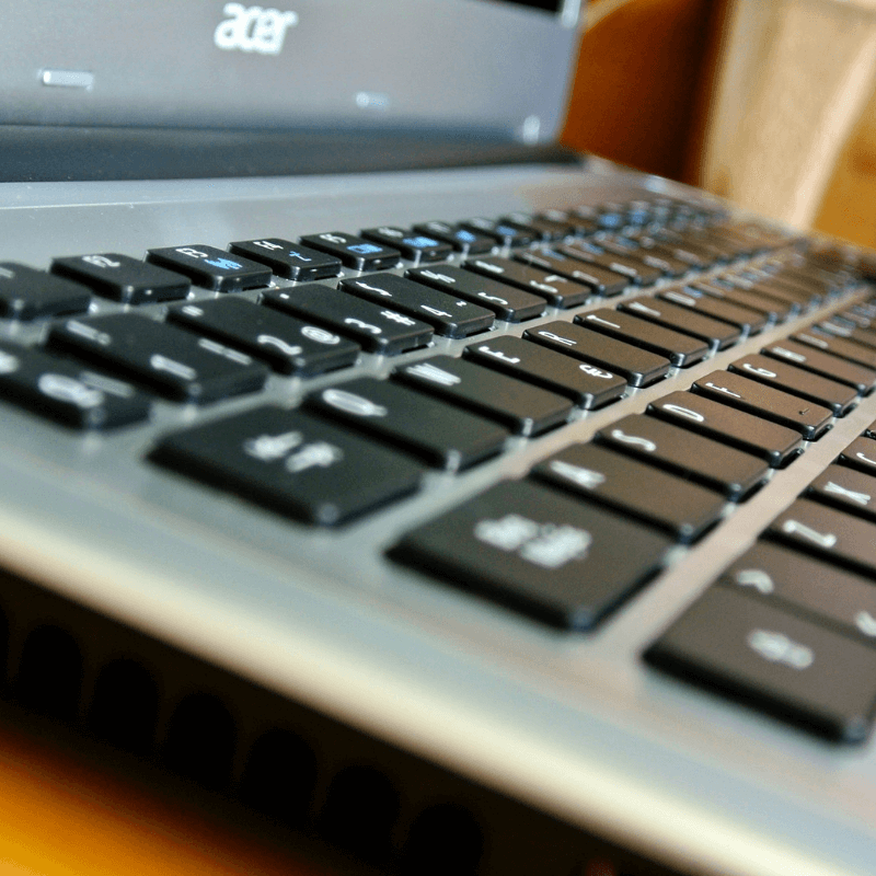 Image of a Acer keyboard