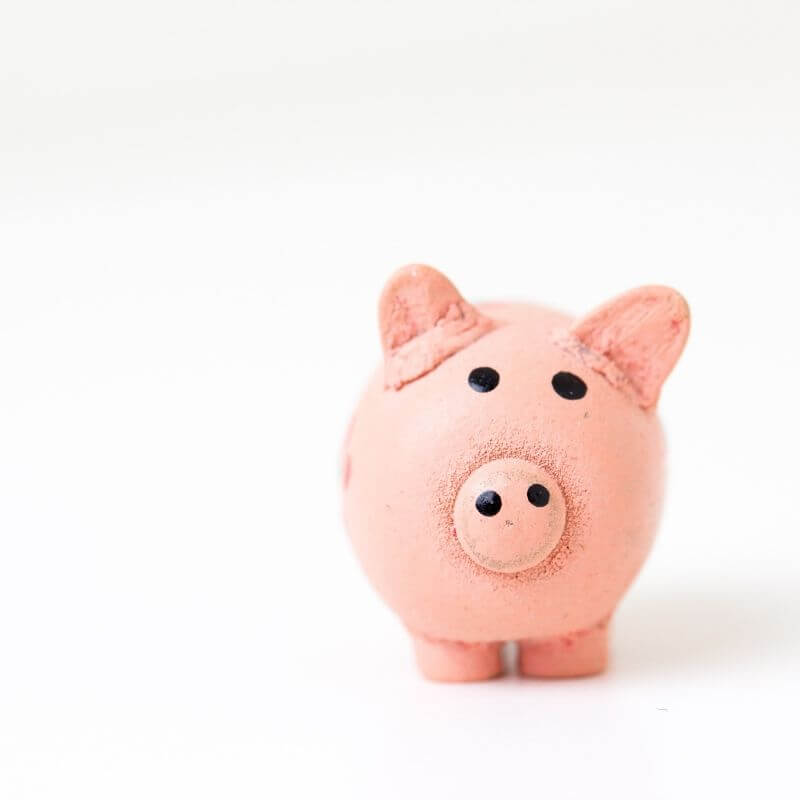 An image of a pink piggy-bank