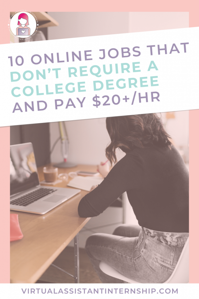 online jobs college degree pin