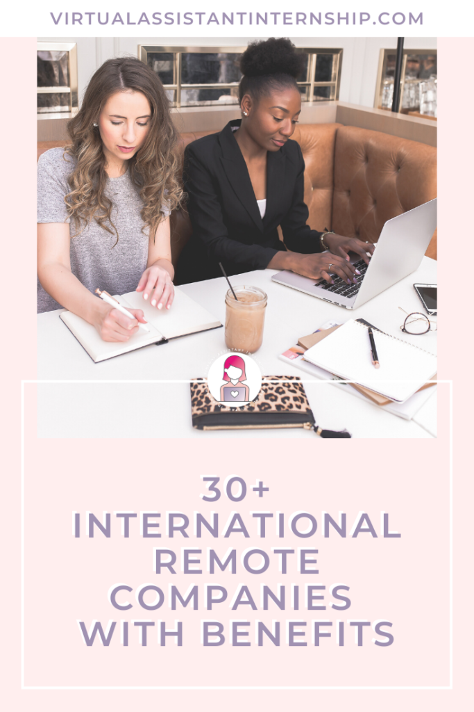Remote companies with benefits pin